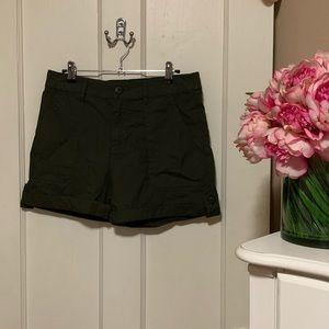Sanctuary Olive Cotton Shorts